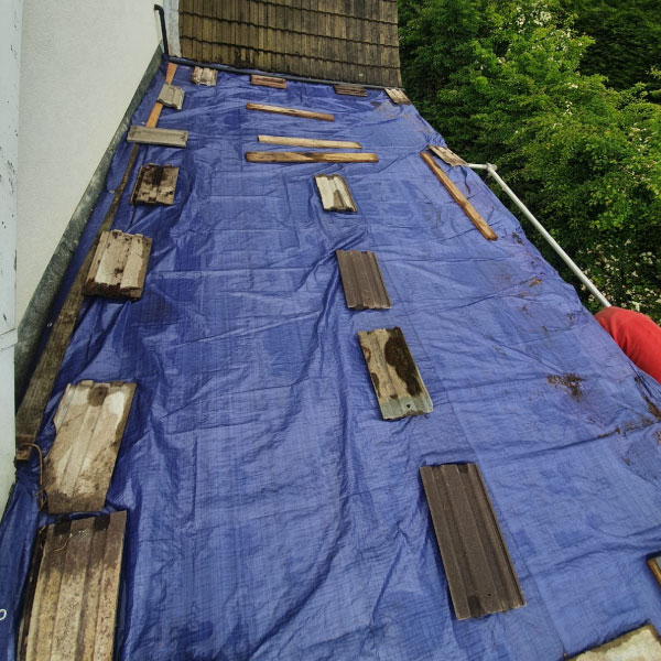 Flat roof repair Doncaster area picture during