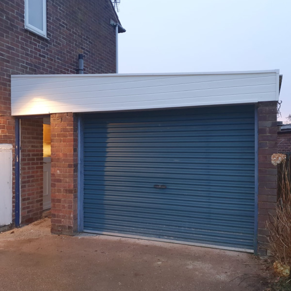Garage roof in white Upvc Doncaster